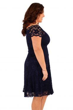Off shoulder jurk van kant voor een avondje uit