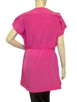 rose shirt met bijpassende riem