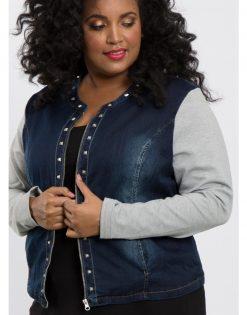 Gabriella, het stoere jeansjasje met studs van X-Two